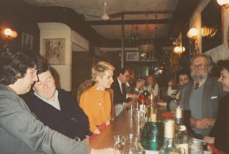 Cookery writer Sophie Grigson (in yellow) at the Summer 1995 lunch.jpg