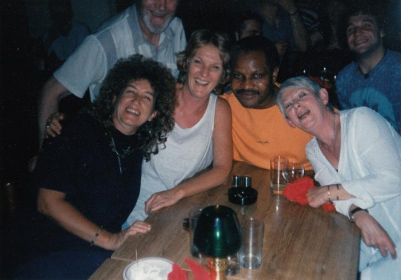 Marianne Gray (centre, in white) at the Summer 1996 lunch.jpg